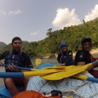 Students on International River Guide Training Programme, consolidating skills on Trusuli River, Nepal