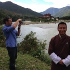 James and Karma. Punaka Dzong  set in-between the confluence of the two rivers the Mo chuu and Po Chuu.