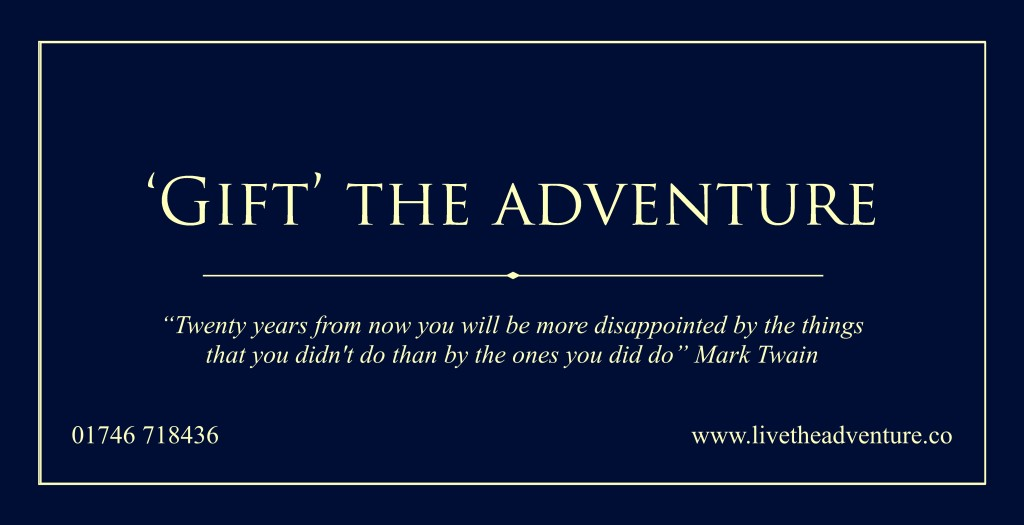 Gift the Adventure Voucher Front
